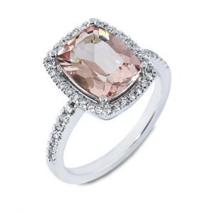 Morganite Haloe Ring