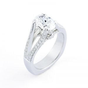 2Ct Oval Split Shank Ring