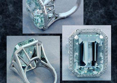 Custom Aquamarine Ring