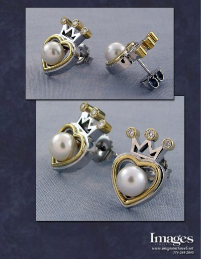 Claddagh Pearl Earrings