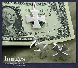 Maltese Cross Money Clip and Cufflinks