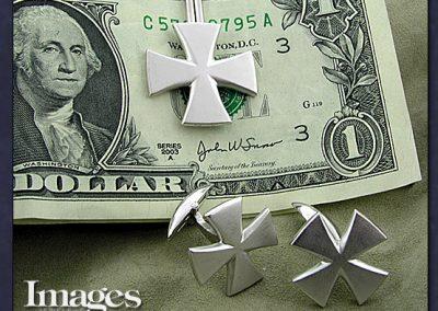 Maltese Cross Money Clip and Cufflinks