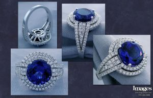 Tanzanite Double Halo