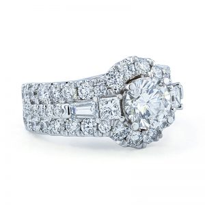 1.56ct Halo Diamond Ring