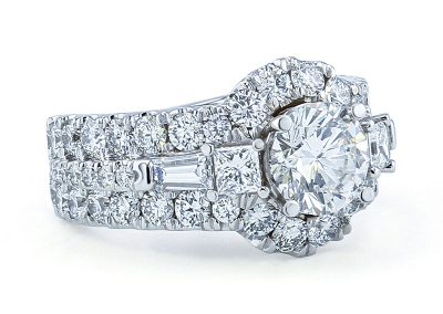 1.56ct Halo Diamond Ring