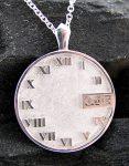 Silver Clock Face Pendant