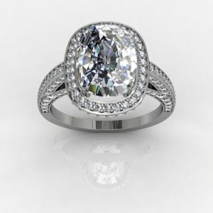 Radiant Cut Halo Ring