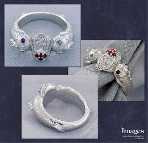 Pisces Cancer Zodiac Ring