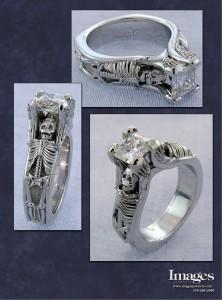 Skeleton Engagement Ring