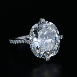 10 Carat Cushion Ring