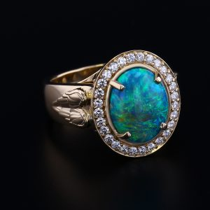 Angel Wing Opal Ring
