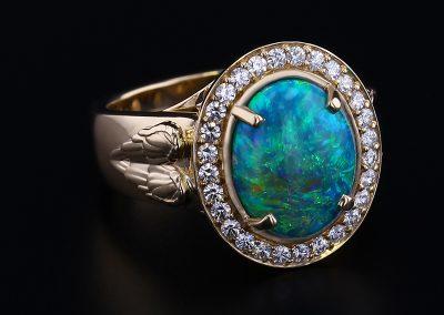 Angel Wing Opal Ring