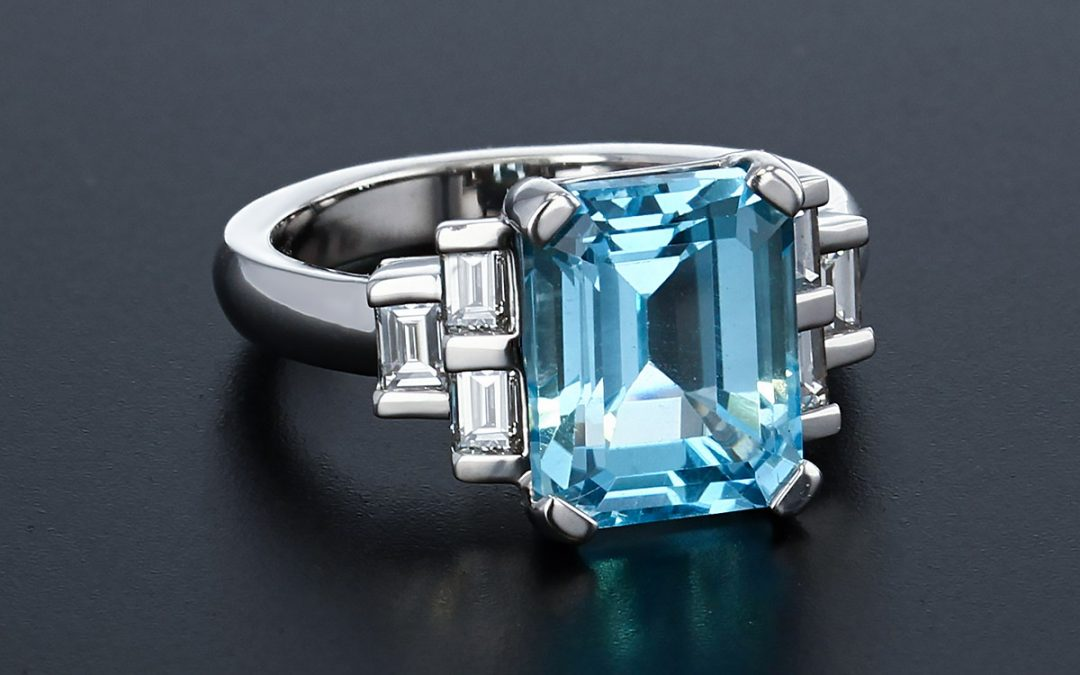 Topaz and Diamonds Custom Rings