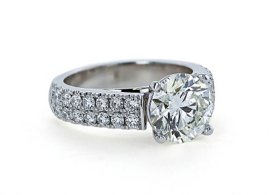 Double Row French Pave Ring