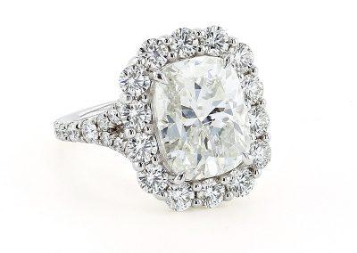 7.10ct Cushion Diamond Ring