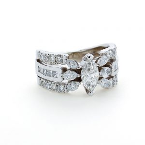 Marquise Split Shank Ring