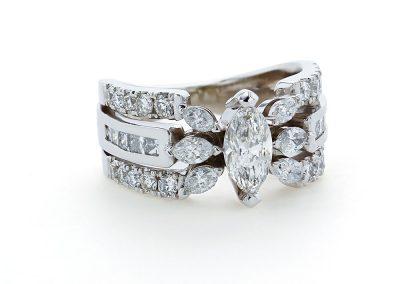 Marquise Split Shank Ring