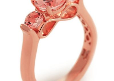 Marganite Engagement Ring set in Rose Gold