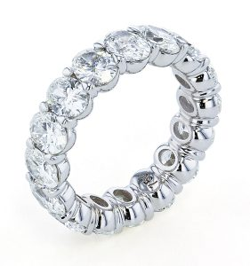 Diamond OVal Eternity Anniversary Band