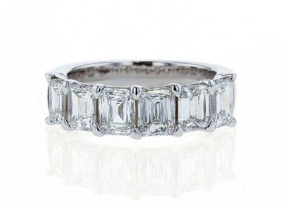 Emerald Cut Anniversary Ring