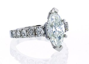 Marquise French Pave Ring