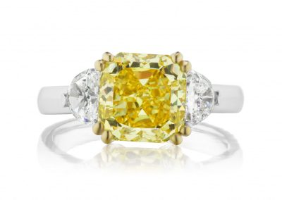 3.57ct Yellow Diamond Ring