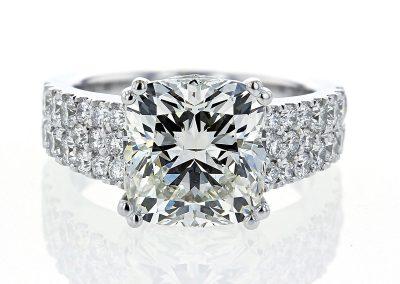 5ct Cushion Cut Diamond Ring