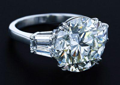10.19 Carat Round Diamond Ring
